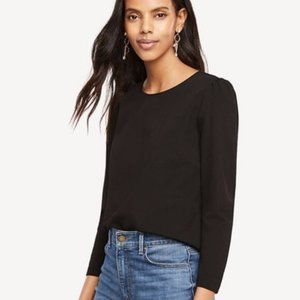 Ann Taylor Puff Shoulder Top
